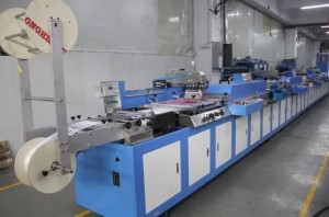 SPE-3000S-4C Automatic label ribbons/satin ribbons/lanyard ribbons screen printing machine