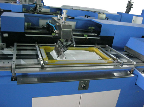 single color care labels screen printing machine