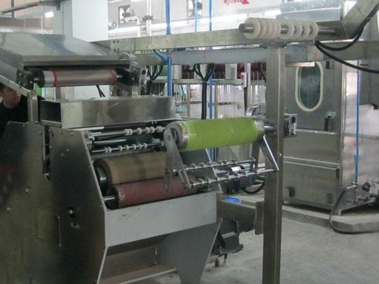 KW-210 elastic tapes pre-shrinking machine