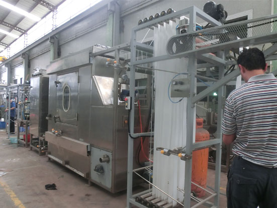 KW-818-A Curtain tapes starching and finishing machine(hot air chamber)