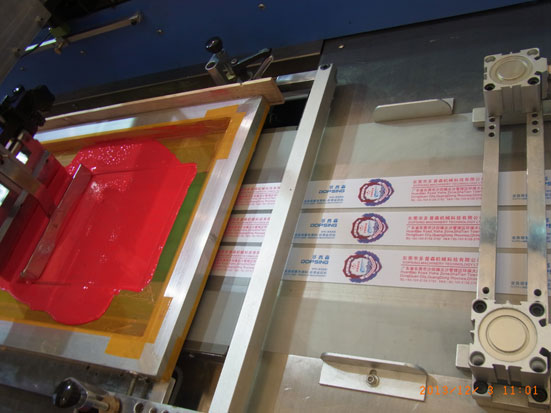 Garment labels automatic screen printing machine with PLC control