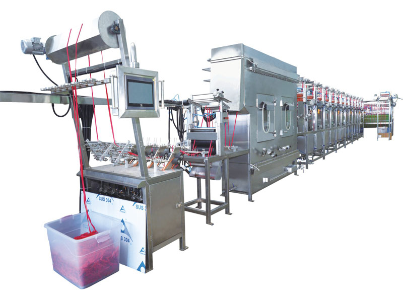KW-807-GM400 Nylon elastic tapes continuous dyeing and finishing machine
