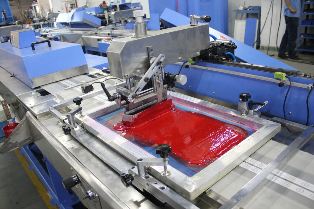 2 Colors Automatic Screen Printing Machine for Nice Content Labels