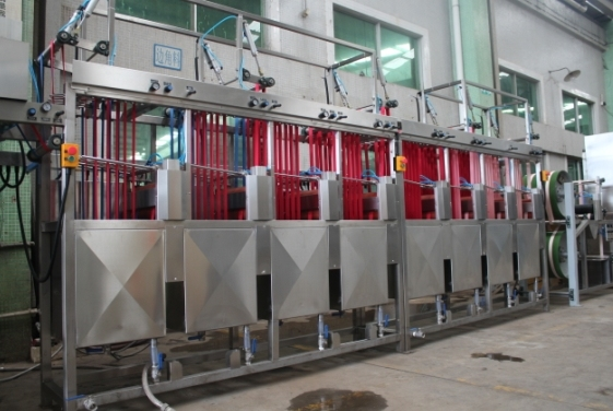 Satin Ribbons Continuous Dyeing&Finishing Machine (KW-812-S/D400)