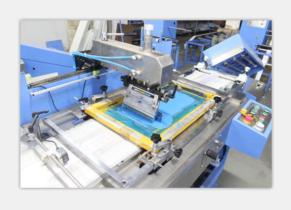 Multicolors Clothing Label Automatic Screen Printing Machine