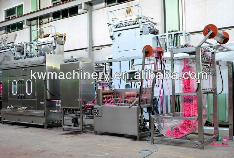 Elastic Band Tapes Continuous Dyeing Machine with 60m Steam Box