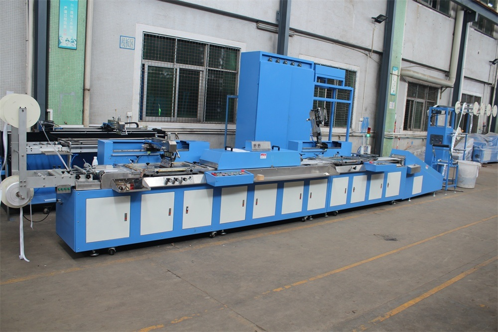 Uske Tkanina / uzicom Vrpce Screen Printing Machine