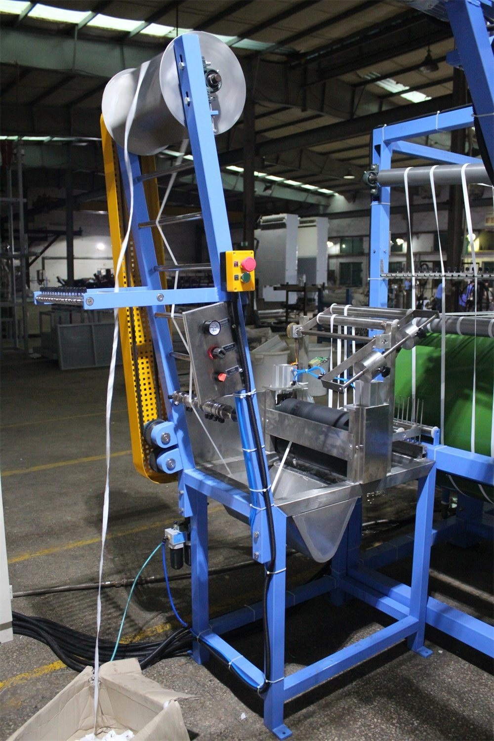 2 Cylinders Cotton Tapes Starching and Finishing Machine