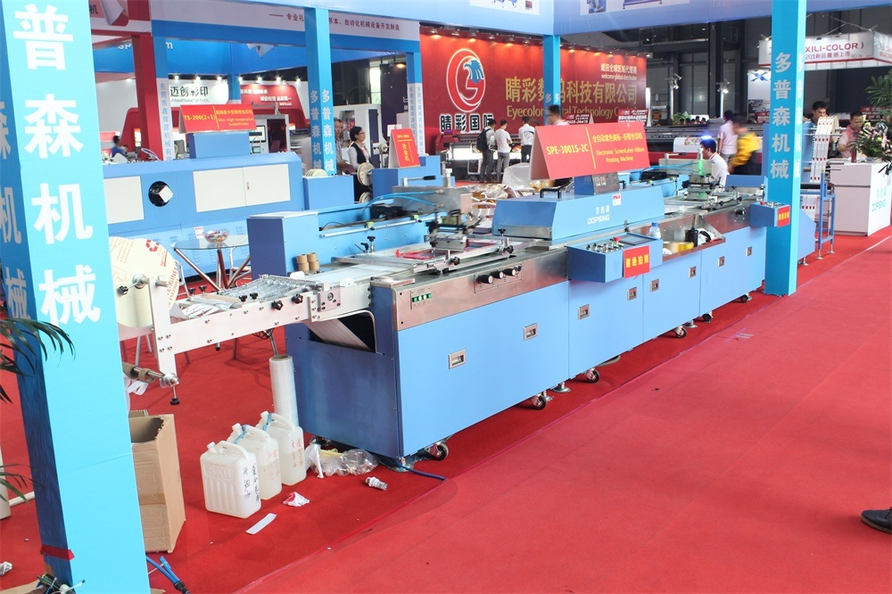 2 Colors Label Ribbon Screen Printing Machine with New Design (SPE-3001S-2C)