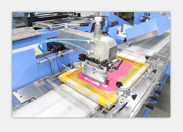 3 Colors Washing Care Labels Automatic Screen Printing Machine Factory