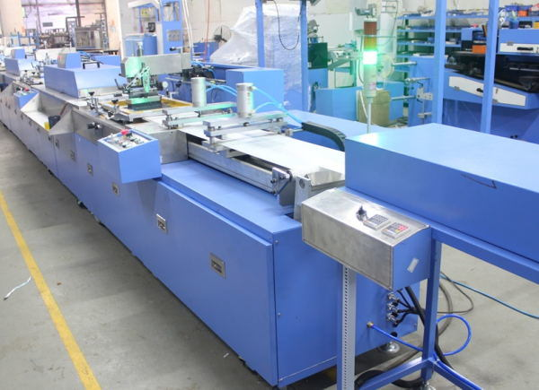 4colors Ribbon-Label Automatic Screen Printing Machine with Ce