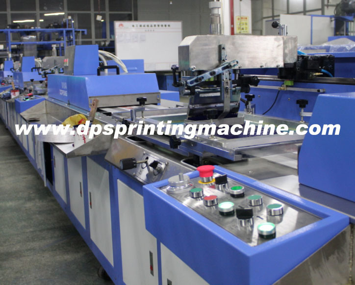 3 Colors Care Label Automatic Screen Printing Machine with Enclosure