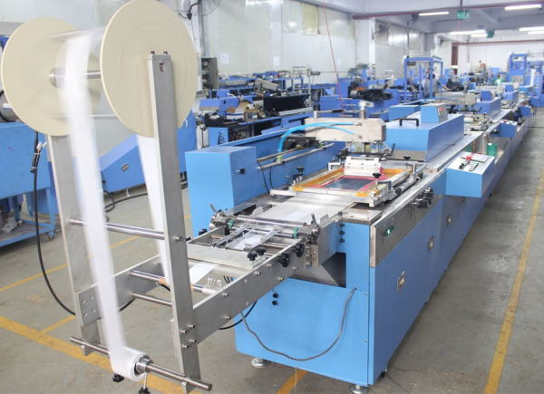 4 Colors Roll to Roll Satin Labels Screen Printing Machine SPE-3000S