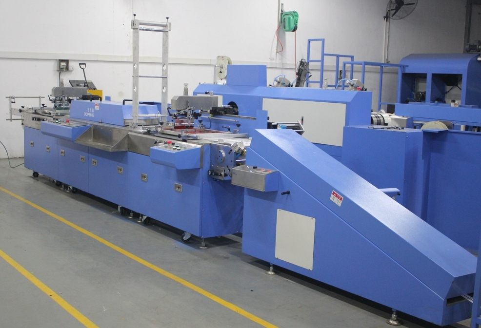 2 Colors Care Label Automatic Screen Printing Machine with High Precision
