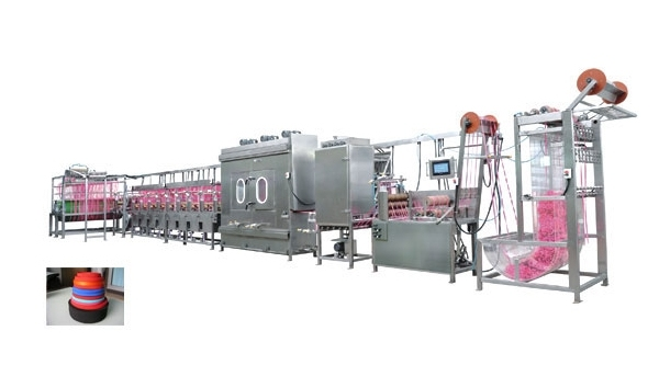 Nylon Elastic Tapes Continuous Dyeing&Finishing Machine with Normal Temp
