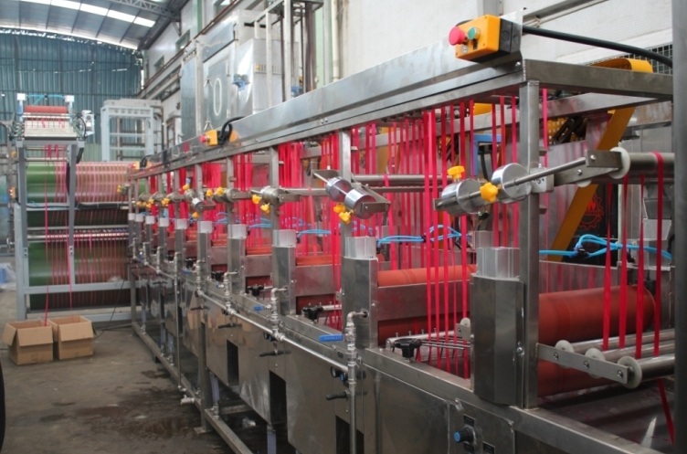 Nylon Elastic Tapes+Polyester Tapes Continuous Dyeing and Finishing Machine