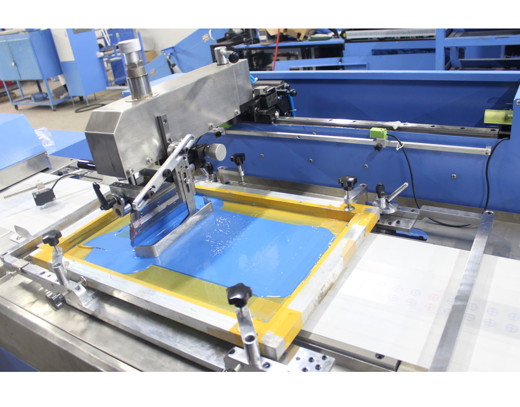 5 Colors Label Ribbons Screen Printing Machine with Large Capacity