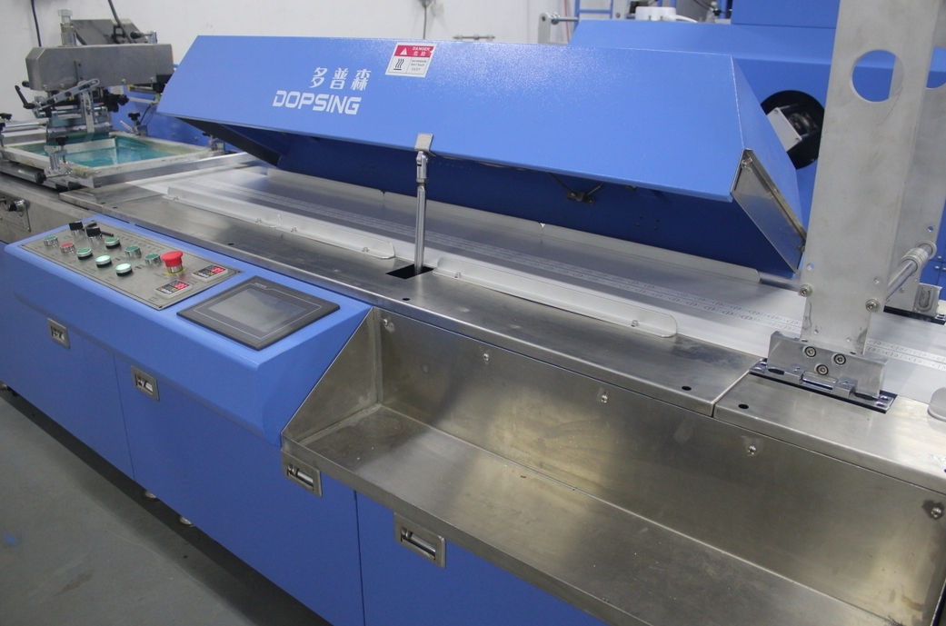 2 Colors Cotton Webbing Tapes Automatic Screen Printing Machine