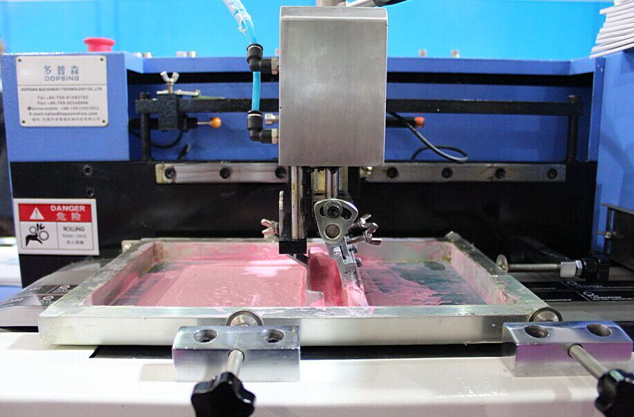 Cotton Labels Automatic Screen Printing Machine with Steel Belt