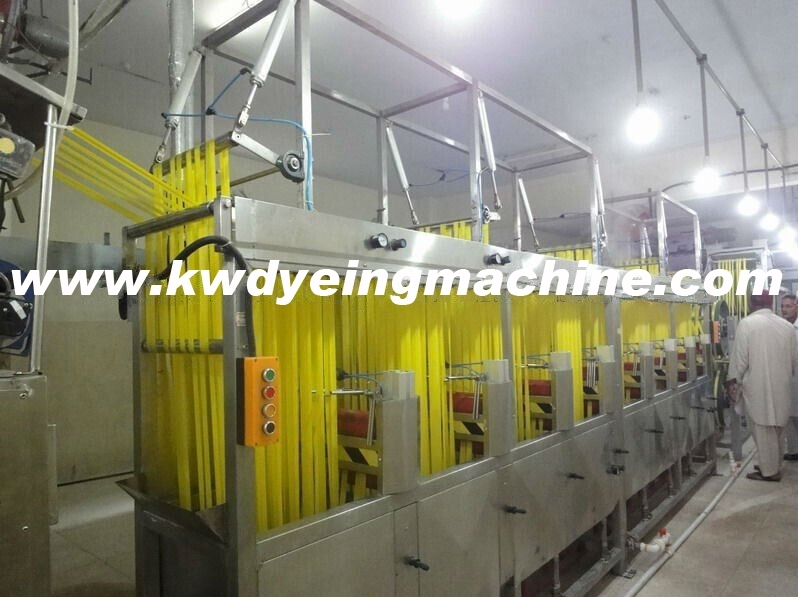 Continuous Dyeing&Finishing Machine for Satin Ribbons