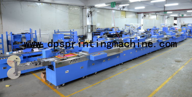 5 Colors Roll to Roll Label Ribbons Automatic Screen Printing Machine