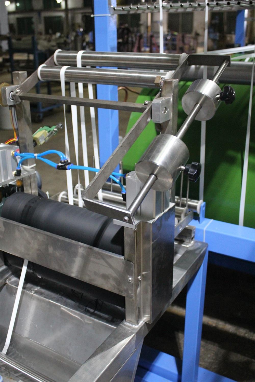 2 Cylinder Nylon Elastic Tapes Automatic Finishing and Starching Machine