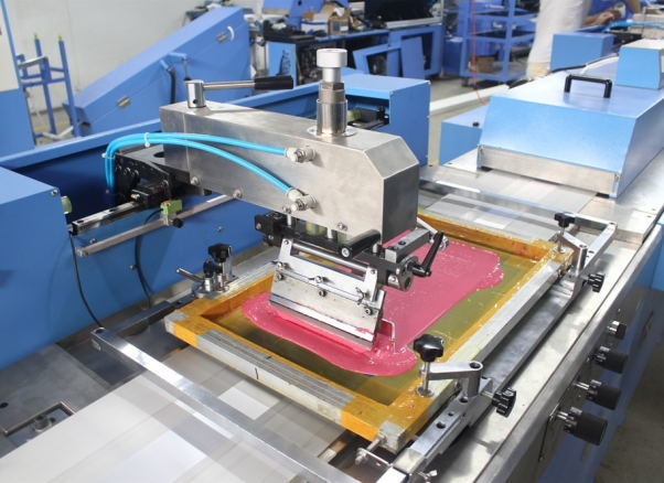 Satin Labels Automatic Screen Printing Machine with Infrared Dryer
