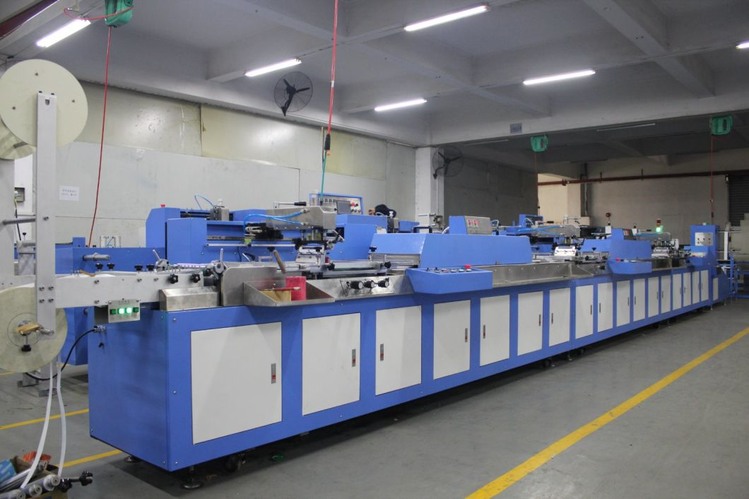 3 Colors Roll to Roll Label Ribbons Automatic Screen Printing Machine