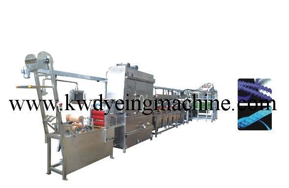 High Speed Nylon Elastic Tapes Continuous Dyeing&Finishing Machine with CE