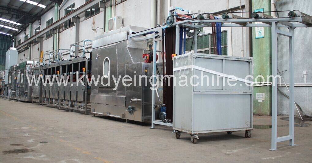 Polyester Bag Webbings Continuous Dyeing and Finishing Machine