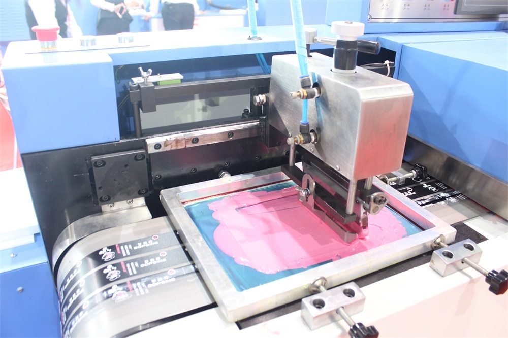 Hot sale Factory Ampoule Duplicating Printing Machine - 2+1 Colors Satin Ribbons High Temp Ink Screen Printing Machine – Kin Wah