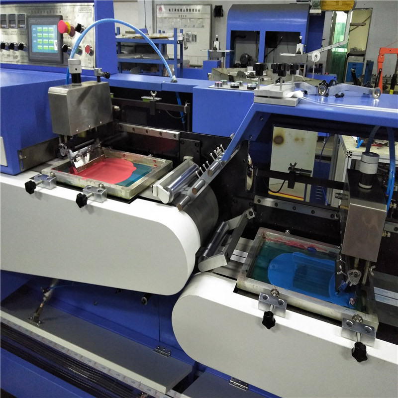 Best Price for Polyester Elastic Tapes Continuous Dyeing And Finishing Machine - Eco Type Label Ribbons Screen Printing Machine with Dual Faces Printing Ts-200 – Kin Wah