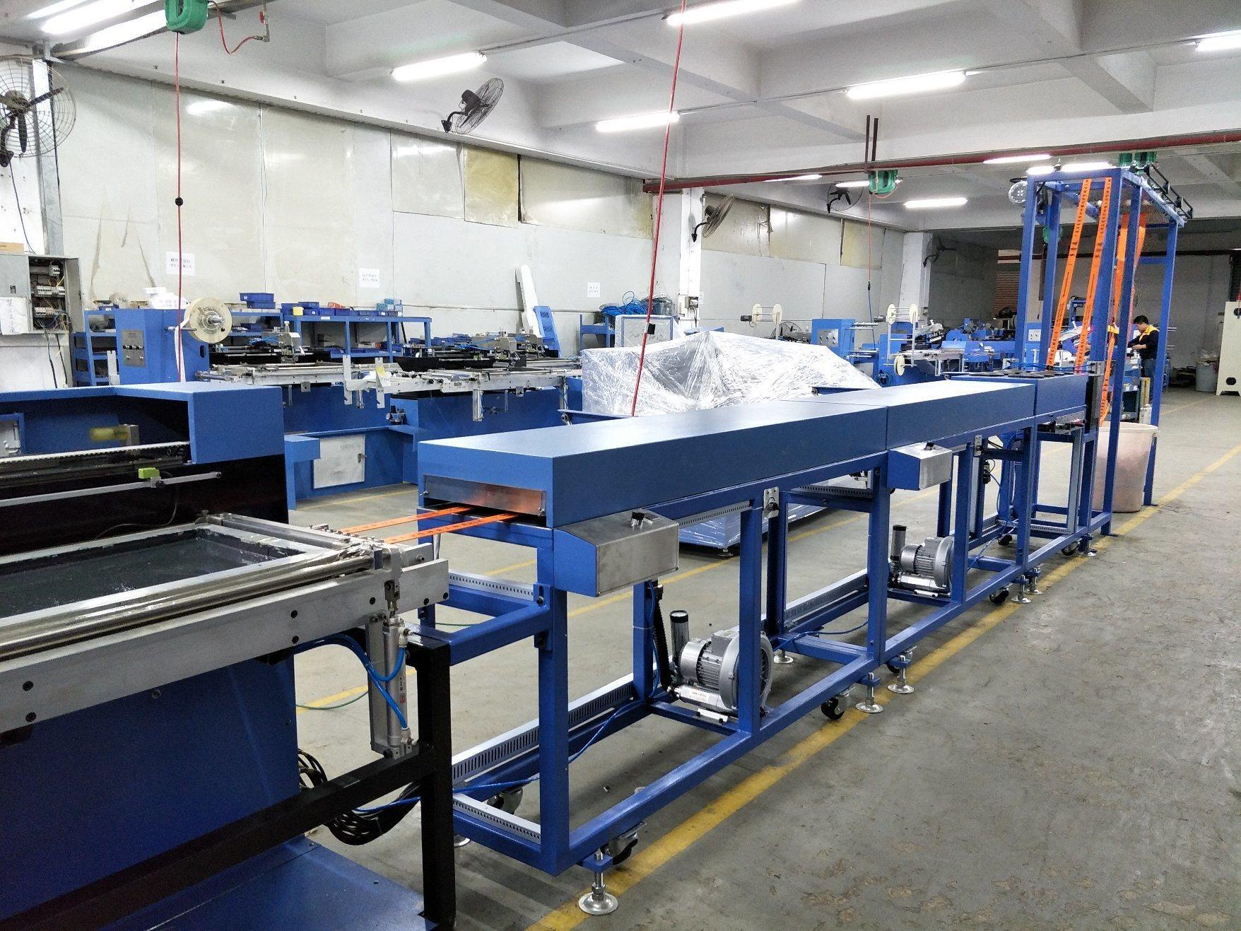 Reasonable price for Metal Reel With Custom Epoxy Logo - Polyester Harness Webbings Automatic Screen Printing Machine – Kin Wah