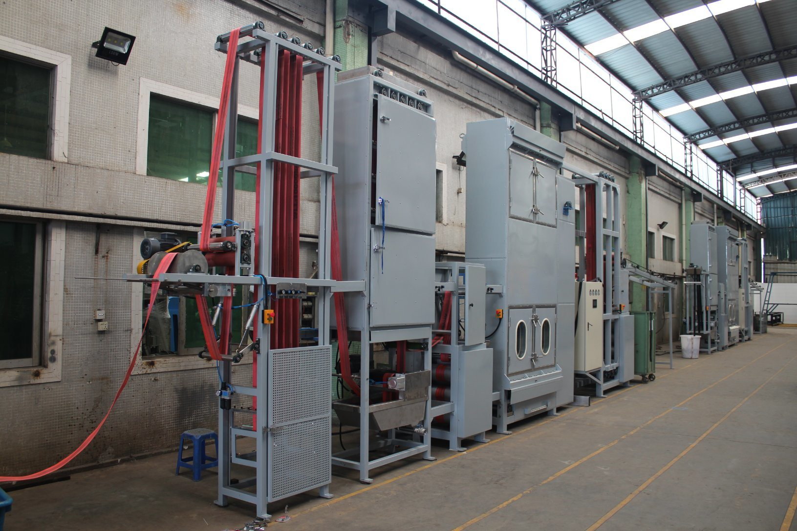 Wide Sling Webbing Continuous Dyeing and Finishing Machine with Elongation Featured Image