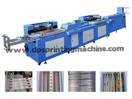 2 Colors Care Labels Automatic Screen Printing Machine with Enclosure