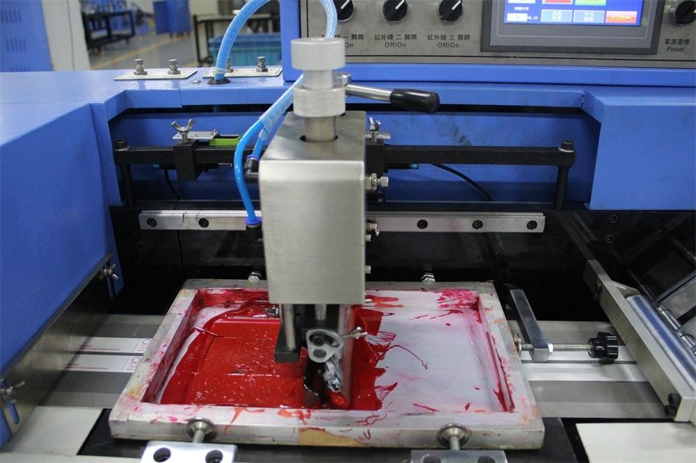 New Arrival China Nylon Elastic Laces Pre-Shrinking Machine - Elastic Webbings Automatic Screen Printing Machine (3+0) – Kin Wah