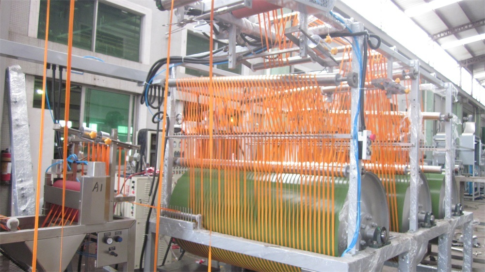High Efficiency Elastic Nylon Webbing Finishing and Starching Machine