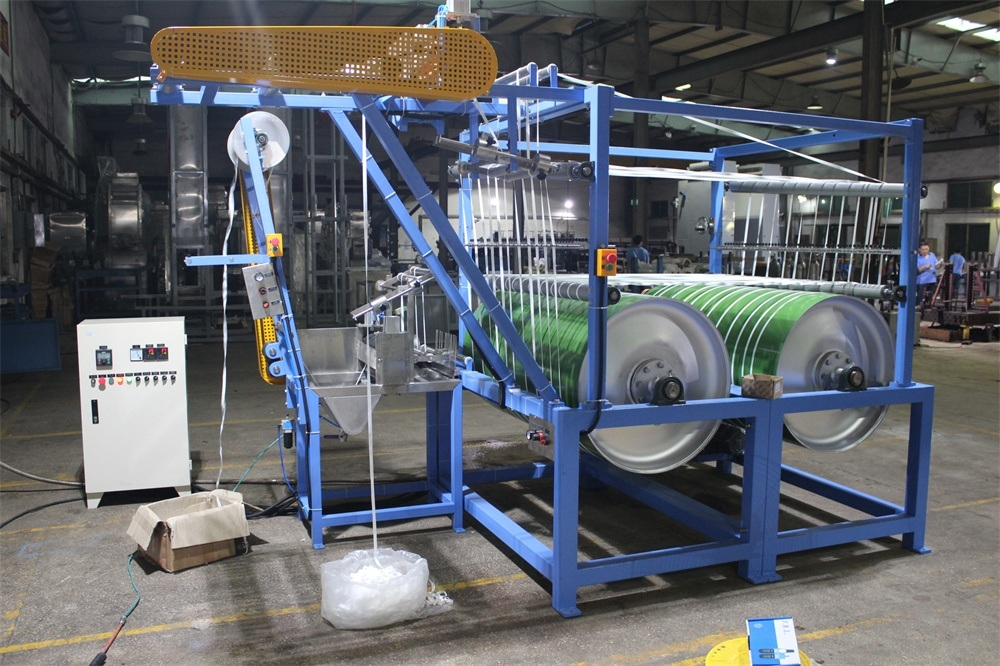 2 Cylinder Nylon Elastic Tapes Automatic Finishing and Starching Machine
