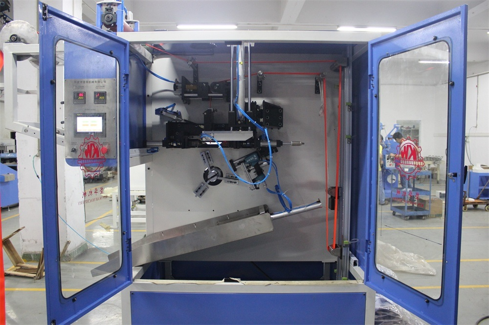 Big discounting Nylon Elastic Tapes Silicone Coating Machine - Two Ends Heavy Duty Belts Automatic Cutting and Winding Machine – Kin Wah