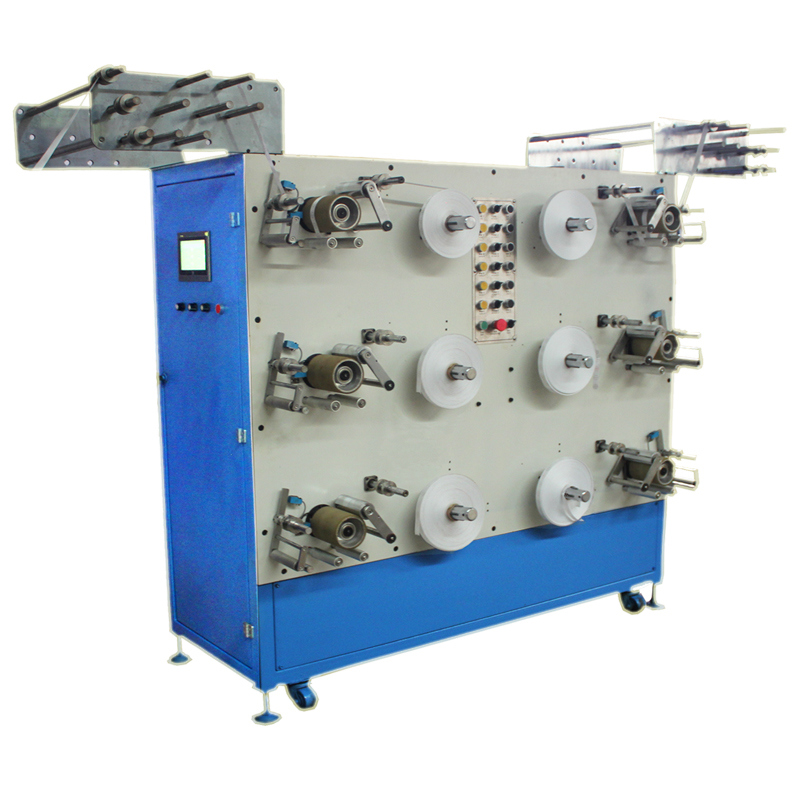 6 Heads Narrow Fabric Rolling Machine