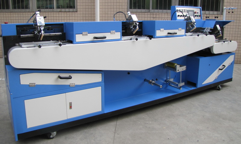 Chinese wholesale 8 Heads Wrapping Machine - High Temperature Screen Printing Machine (3+1) (TS-150) – Kin Wah Featured Image