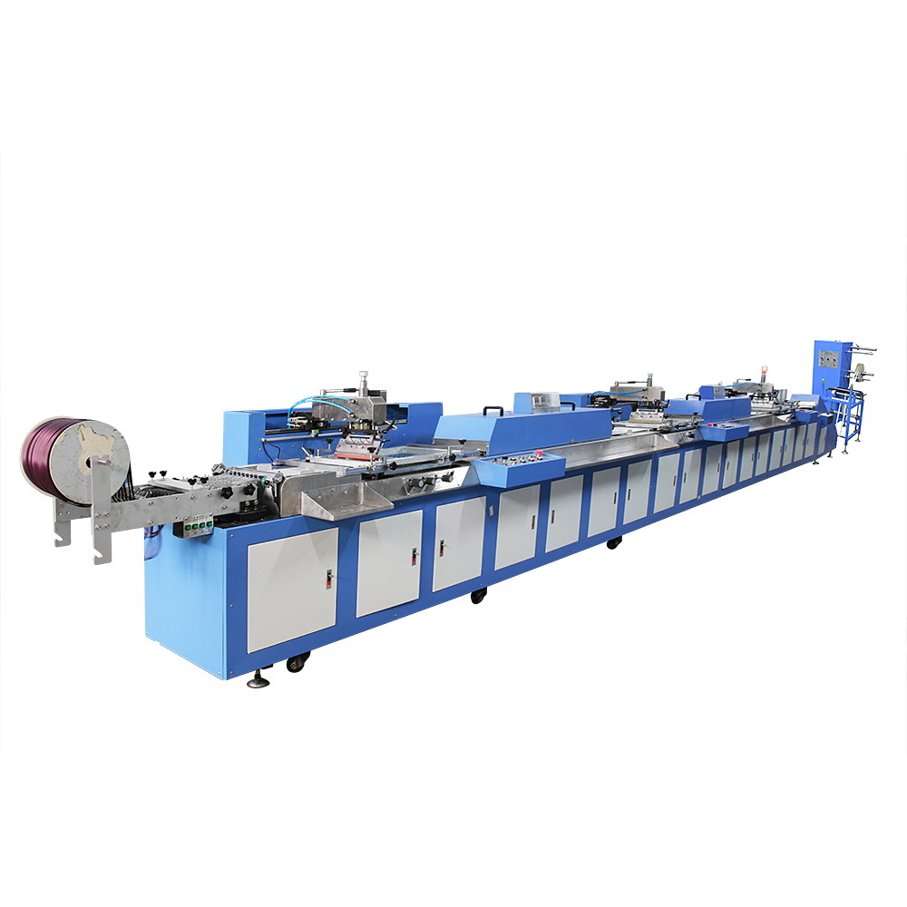 3 Colors Gift Ribbons Automatic Screen Printing Machine