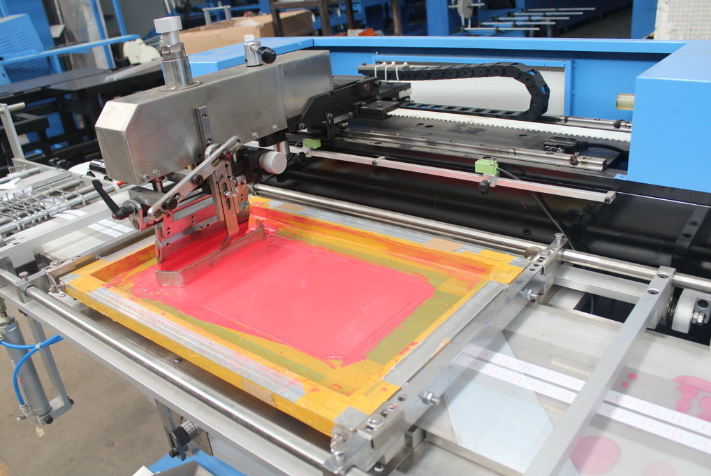 2 Colors Lanyards Automatic Screen Printing Machine Without Enclosure