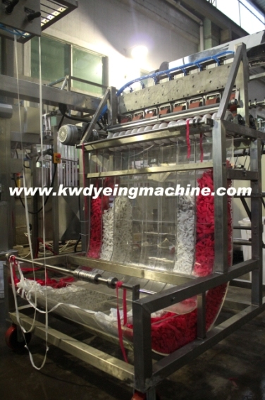 Professional China Polyester Elastic Laces Continuous Dyeing Machine - Polyester Elastic Webbing Continuous Dyeing&Finishing Machine with J-Box Storage – Kin Wah