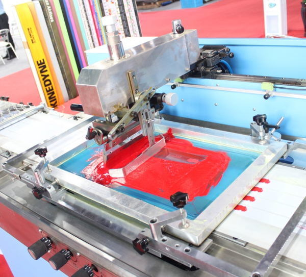 New Type 2 Colors Clothing Labels Automatic Screen Printing Machine
