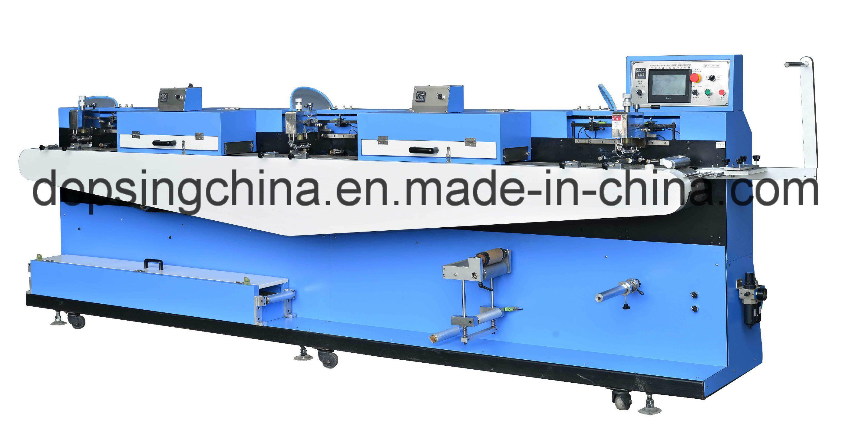 High Temperature Auto Servo Screen Printing Machine 3+0