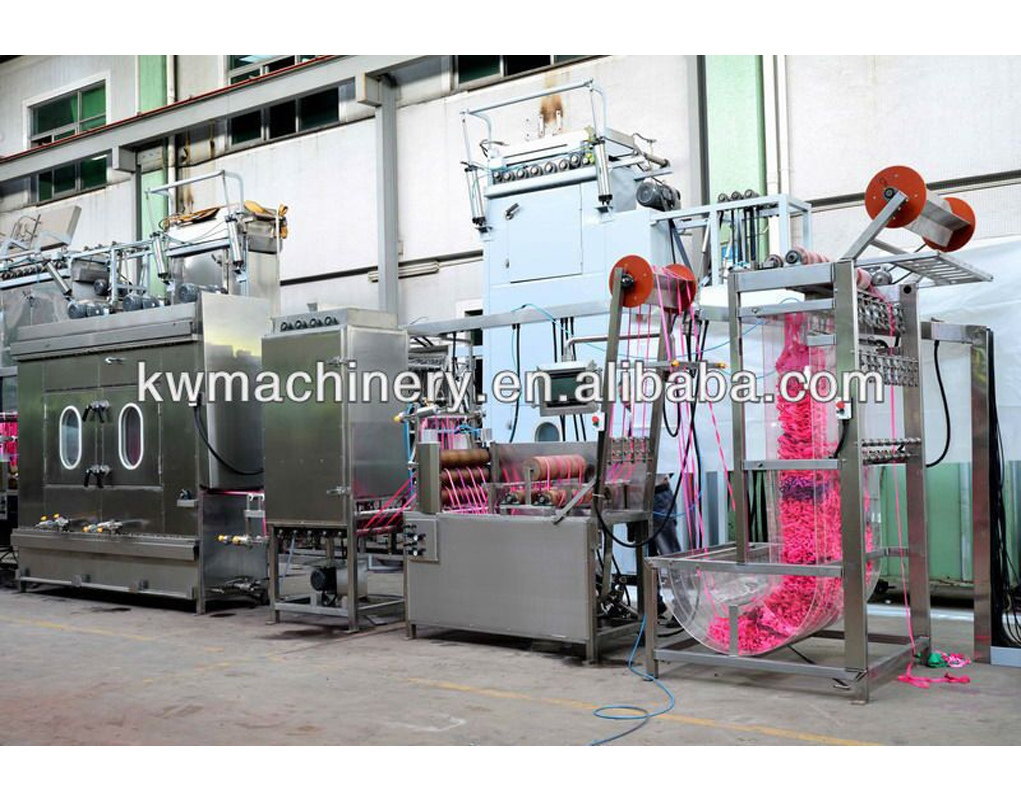 Best-Selling Lanyards Ribbons Automatic Screen Printing Machine - 400mm Nylon Elastic Tapes Continuous Dyeing Machine – Kin Wah