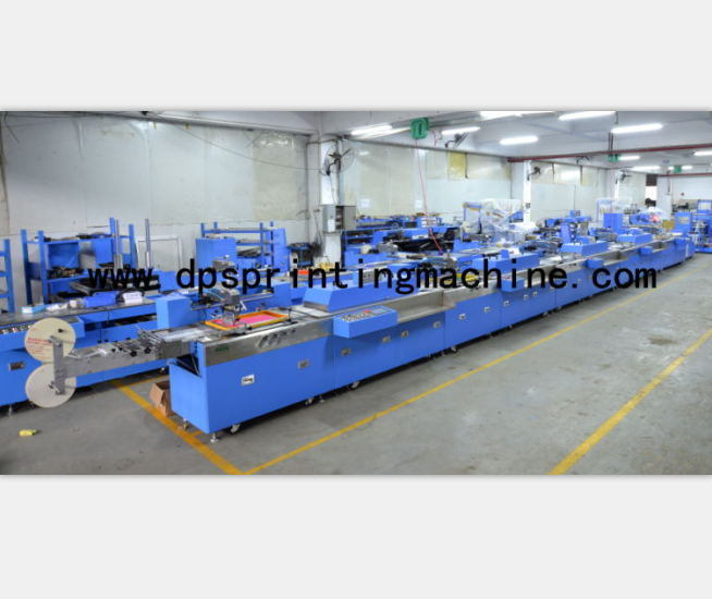 5 Colors Ribbon-Label/Woven Labels Automatic Screen Printing Machine