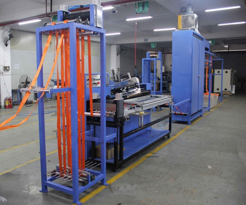 1 Color Polyester Tie Down Straps Automatic Screen Printing Machine
