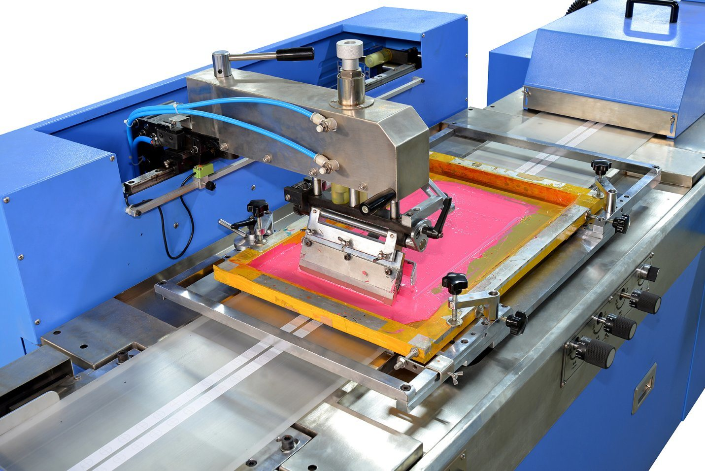 Short Lead Time for Normal Temperature Continuous Dyeing Machine - Clothing Labels Automatic Screen Printing Machine Spe-3001s-2c – Kin Wah